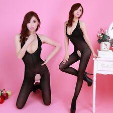 Lingerie Clothes Sex Transparent Garter Pantyhose Silk restrictive Black