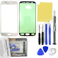 Silver Samsung Galaxy S7 G930 Front Glass Screen Replacement Repair Kit