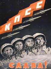 PROPAGANDA COSMONAUT GAGARIN USSR SOVIET COMMUNISM POSTER ART PRINT BB2422B