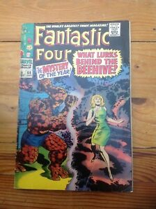 THE FANTASTIC FOUR 66. 1967. 1st CAMEO APPEARANCE ADAM (HIM) WARLOCK. THANOS.