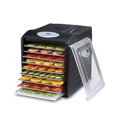 """Samson """"Silent"""" 9 Tray Dehydrator with Digital Controls 9 Stainless Steel Trays"""