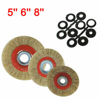 125mm/150mm/200mm ROUND BRASS PLATED STEEL WIRE BRUSH WHEEL FOR BENCH GRINDER