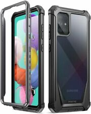 Samsung Galaxy A51 Rugged Clear Case,Poetic Shockproof Bumper Cover Black