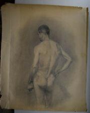 Antique1953 Russian USSR Socialist Realis   pencil  paper Nudes