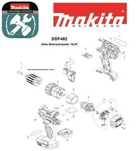 Makita Ersatzteile für Akku-Schrauber DDF482Z