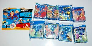 Complete Set of 8 Legion Of Superheroes McDonald's Happy Meal Toys 2007 DC