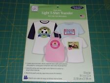 June Tailor - IRON ON LIGHT T-SHIRT TRANSFER - for inkjet printers - 10 SHEETS