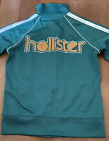 AUTHENTIC HOLLISTER HCO FULL ZIP WOMEN'S TRACK JACKET SIZE​ SMALL GREEN WHITE