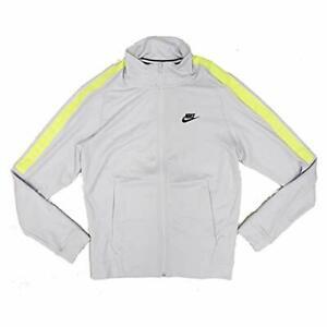 Nike Men's NSW Full-Zip Tribute Jacket Grey/Yellow 861648-043