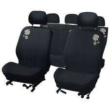 UNIVERSAL CAR SEAT COVER SET Daisy design  Velour Washable Airbag Compatible