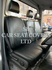 MERCEDES SPRINTER VAN SEAT COVERS - DIESEL BLACK LEATHERETTE MADE TO MEASURE