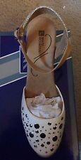 White Mountain Solar Espadrille Wedges with Gemstone Detail - Natural, 8-1/2 Med