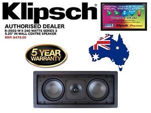 """Klipsch R-2502-W II 240 Watts 2 X 5.25"""" In-Wall Speaker (Series 2) RRP: $479"""