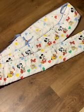 Vintage Dundee Disney Babies Mickey Mouse & Friends Hearts Baby Bumper Pad 1980s