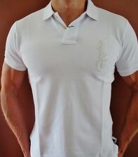 New NWT Mens Ralph Lauren Polo Shirt Big Pony Muscle Custom Fit Silver Medium
