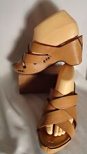 Frye Lt. Brown Leather Strappy Sandals/Heels, Womens 8B