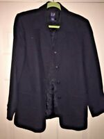 GAP LINED RAYON POLYESTER SPORTS COAT WOMENS BUSINESS Blazer JACKET SIZE 12