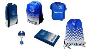Everton FC Merchandise Backpack Keyring 100% Genuine Merchandise Wallet Gymbag