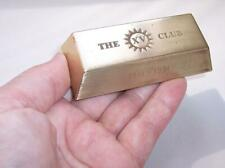 Vintage Heavy BRASS INGOT PAPERWEIGHT The XV Club 1941 - 1991