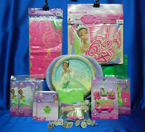 Princess & The Frog Party Set # 22 Tiana Plate Candle Giant Banner Tablecover