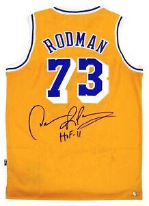 Dennis Rodman Autographed Lakers NBA Basketball Jersey ASI Proof