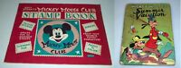 Walt Disney Mickey Mouse Club Stamp Book & Mickey Mouse's Summer Vacation Book
