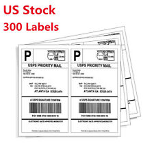 300pc 8.5 in x 5.5 in Half Sheet Self Stick Shipping Labels For Ebay Fedex USPS