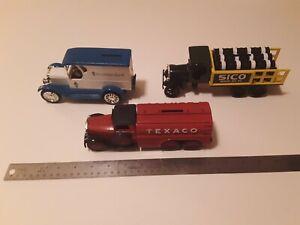 Ertl Die-cast Metal Truck Bank Lot, 23 Chevy Van, 30 Diamond Texaco Tanker, KW