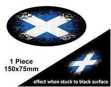 OVALE FADE TO BLACK Scozia Decusse Bandiera Scozzese Auto Adesivo Vinile Decalcomania 150mm