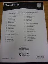 30/10/2017 Aston Villa U23 v Newcastle United U23 [en Walsall] (sola hoja). B