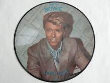 DAVID BOWIE LET'S TALK RARE 1980 INTERVIEW PICTURE DISC LP NCB AR-30010 DANISH