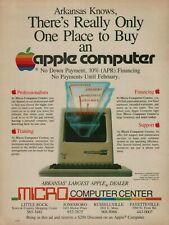 1984 Apple Macintosh Micro Computer Center Arkansas Knows Vintage Color Print Ad