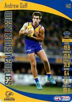 ✺New✺ 2020 WEST COAST EAGLES AFL Card ANDREW GAFF Teamcoach