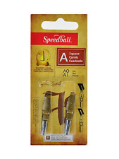 Speedball Lettering and Drawing Square Pen Nibs A Style A-0/A-1 pack of 2