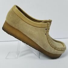 Clarks Originals Wallabees Leather Suede Lace Up Shoes 35395 Womens Size 5.5 M