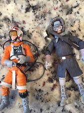 Star Wars TLC Luke Skywalker Snowspeeder Pilot Han Hoth Figure Lot Loose