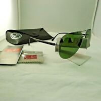 RAY-BAN RB8058 004/9A GUNMETAL G-15 GREEN POLARIZED AVIATOR SUNGLASSES NEW 9