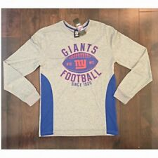 NFL Men s NY Giants Football Long Sleeve Shirt Gray W  Blue Size Small 0d1ceab18