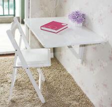 SoBuy® Tavolo da muro pieghevole, 80*60cm,2x pieghevole, bianco,FWT02-W,IT