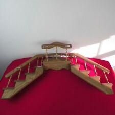 Graduated Tier Oak Wood Rack Knick Knack Plate Wall Display Shelf Shadow Box