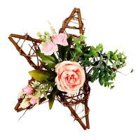 Romantisch Türkranz Wandkranz Kunstblumen Kranz Dekokranz für Haus Büro Laden
