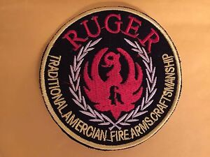 RUGER TRADITIONAL AMERICAN FIREARMS CRAFTSMANSHIP LOGO PATCH IRON ON OR SEW ON