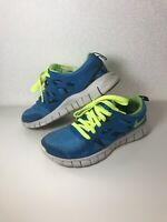Nike Free Run 2 Women's Shoes Size Uk 5 Blue Aqua White Running Trainers EUR 38