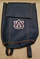 "Blue Fake Leather Auburn Tigers University Backpack, Bookbag, Approx 15""x12"""