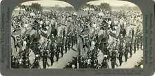 Stereoview India BOMBAY Great Durbar Elephant Procession 12554 258 20394 fx