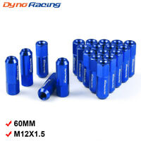 Blue 20PCS M14X1.5 60MM Extended Forged Aluminum Tuner Racing Lug Nut