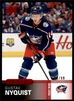 2019-20 UD Overtime Wave 2 Base Red #85 Gustav Nyquist /99 Columbus Blue Jackets