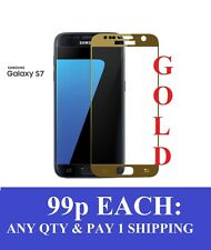 TEMPERED GLASS SCREEN PROTECTOR FOR SAMSUNG GALAXY S7. FULL BODY GOLD