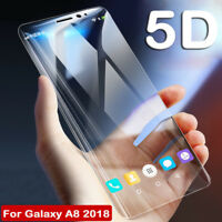 5D Full Curved Tempered Glass Screen Protector For Samsung Galaxy A5 A8 A8 Plus