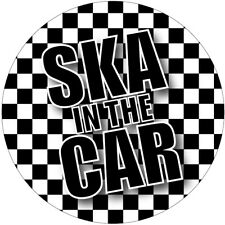 2 X SKA IN THE CAR ROUND CIRCLE CAR VAN LORRY VINYL SELF ADHESIVE STICKERS